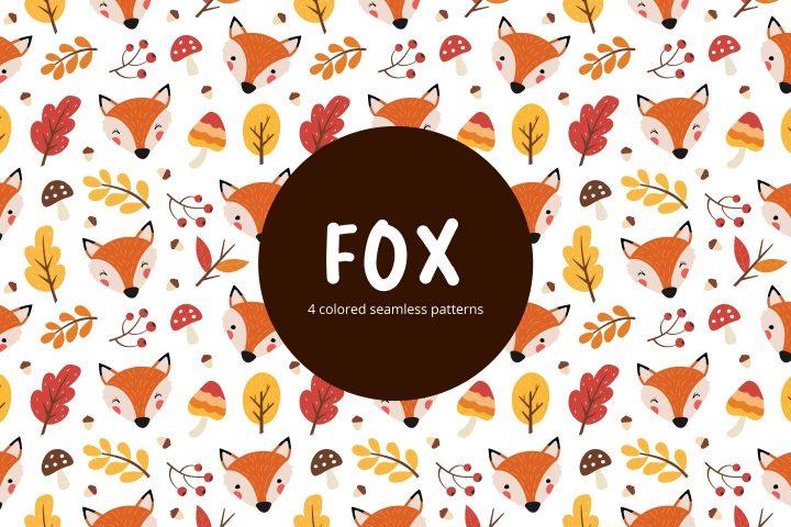 Fox Vector Free Seamless Pattern