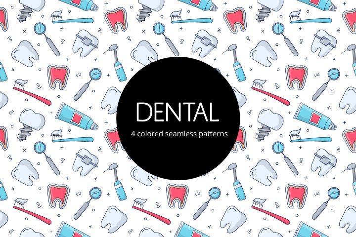 Dental Free Vector Seamless Pattern