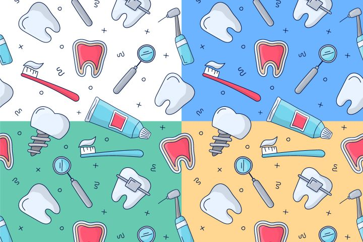 Dental Free Vector Seamless Pattern