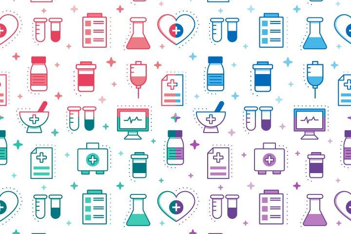 Medicine Vector Free Seamless Pattern