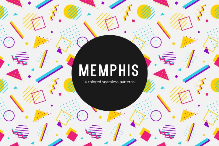 Memphis Vector Free Seamless Pattern