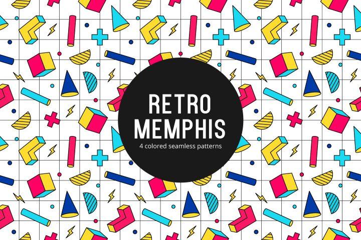 Retro Memphis Free Seamless Pattern