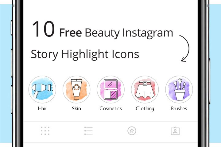 10 Free Beauty Instagram Story Highlight Icons
