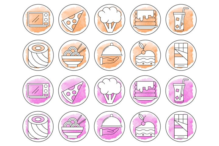 10 Free Cooking Instagram Story Highlight Icons