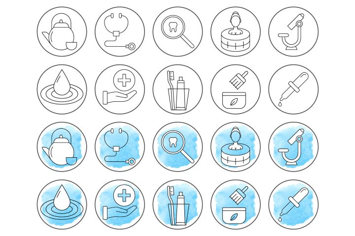 10 Free Health Instagram Story Highlight Icons