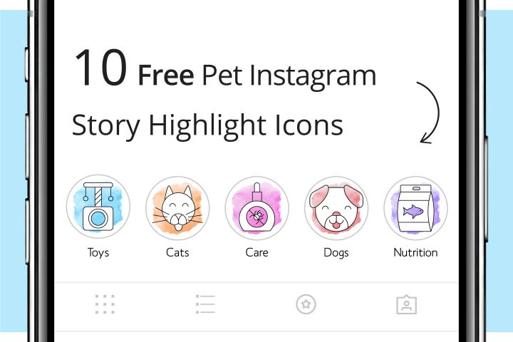 10 Free Pet Instagram Story Highlight Icons
