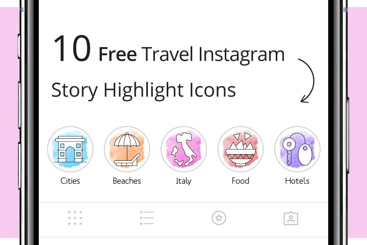 10 Free Travel Instagram Story Highlight Icons