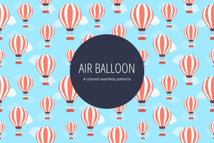 Air Balloon Vector Seamless Pattern