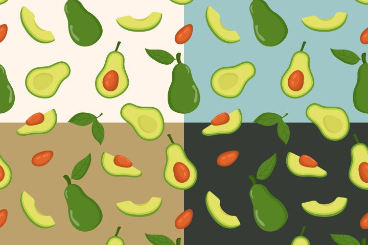 Avocado Vector Free Seamless Pattern