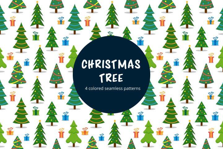 Christmas Tree Vector Seamless Pattern