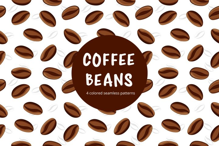 Coffee Beans Vector Free Seamless Pattern