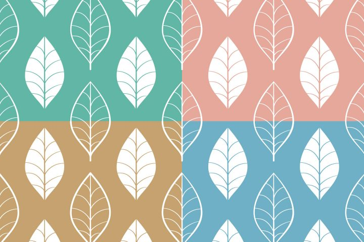Leaves Vector Free Seamless Pattern