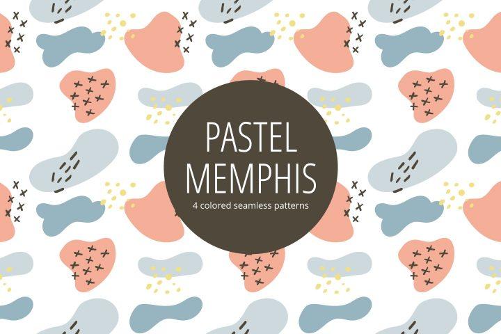 Pastel Memphis Free Seamless Pattern