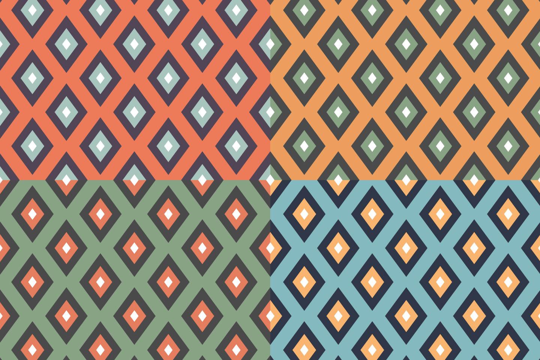 Retro Rhombuses Vector Seamless Pattern