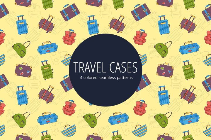 Travel Cases Vector Seamless Pattern