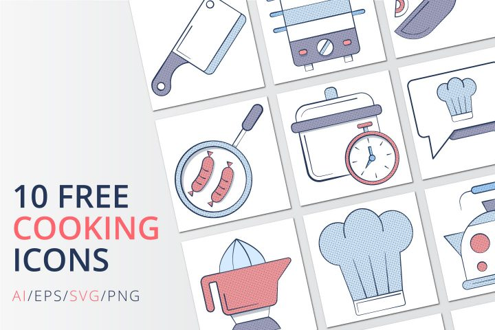 10 Free Cooking Icon