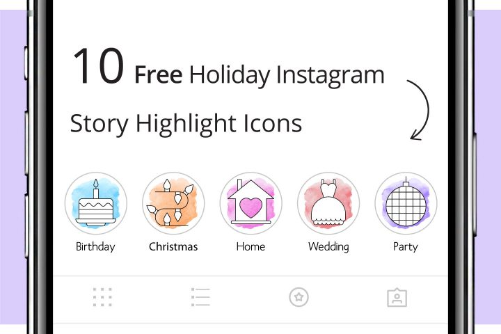 10 Free Holiday Instagram Story Highlight Icons