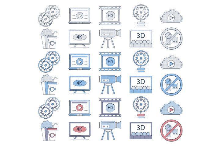 10 Free Movie Icon