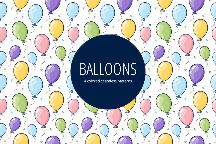 Balloons Vector Free Seamless Pattern