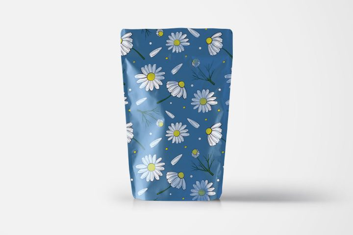 Chamomile Vector Free Pattern