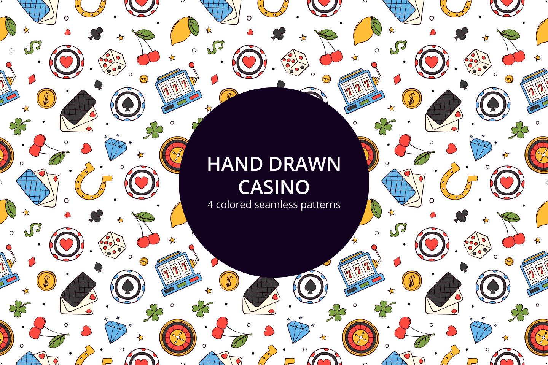 Hand Drawn Casino Vector Seamless Pattern