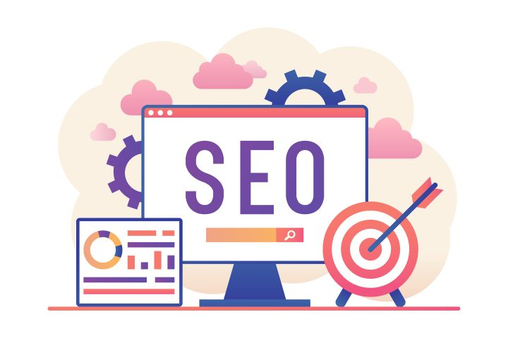 SEO Vector Free Illustration