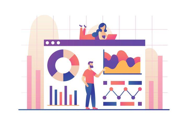Data Analysis Vector Illustration
