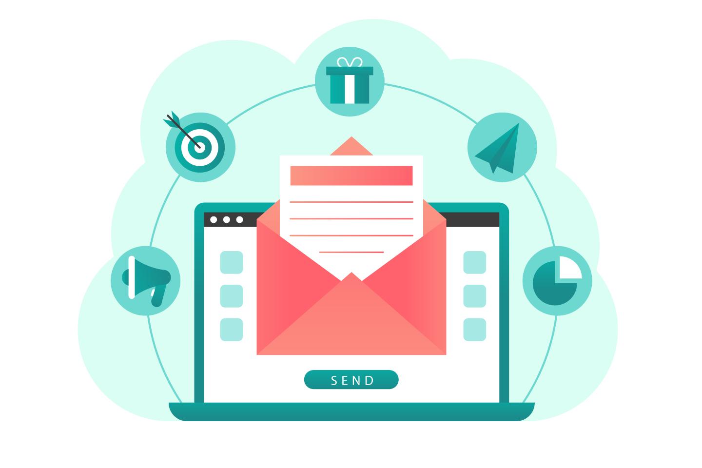 Email Marketing Vector Illustration