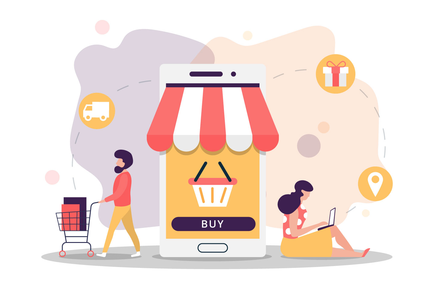 Online Shopping Vector Illustration