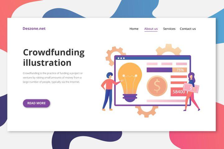 Crowdfunding Vector Illustration