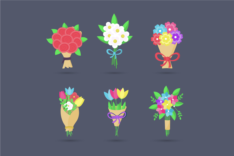 Arrangement of Various Bouquets of Flowers