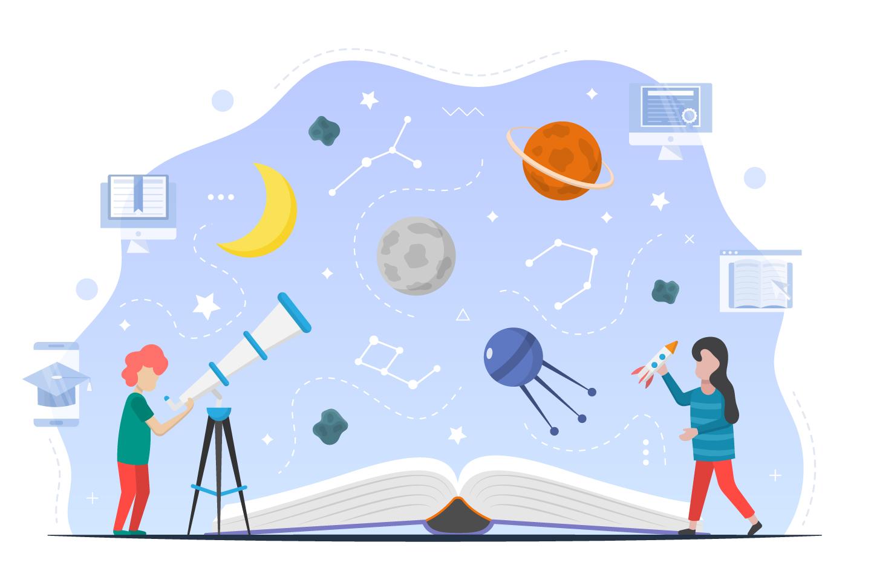 Illustration Astronomy For Children