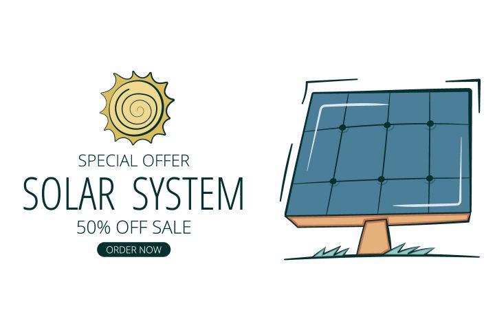 Banner Solar Systems Vector Design