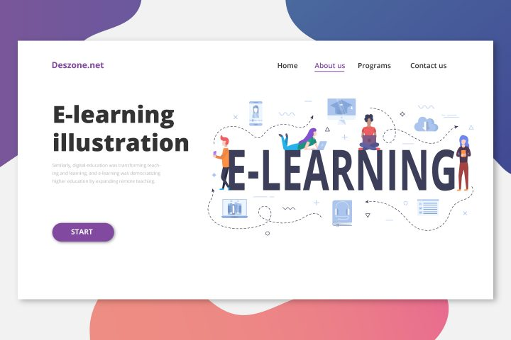 Banner E-learning Concept Vector Design