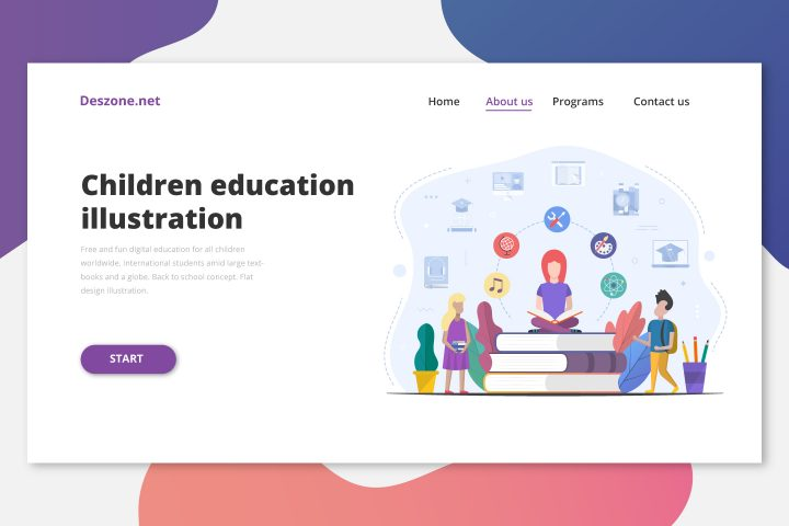 Books and Education for Children Flat Design