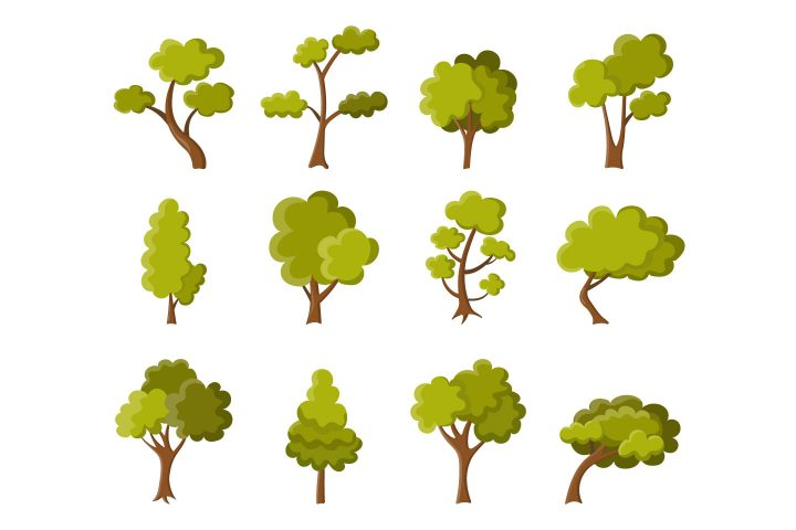 Collection of Green Summer Trees