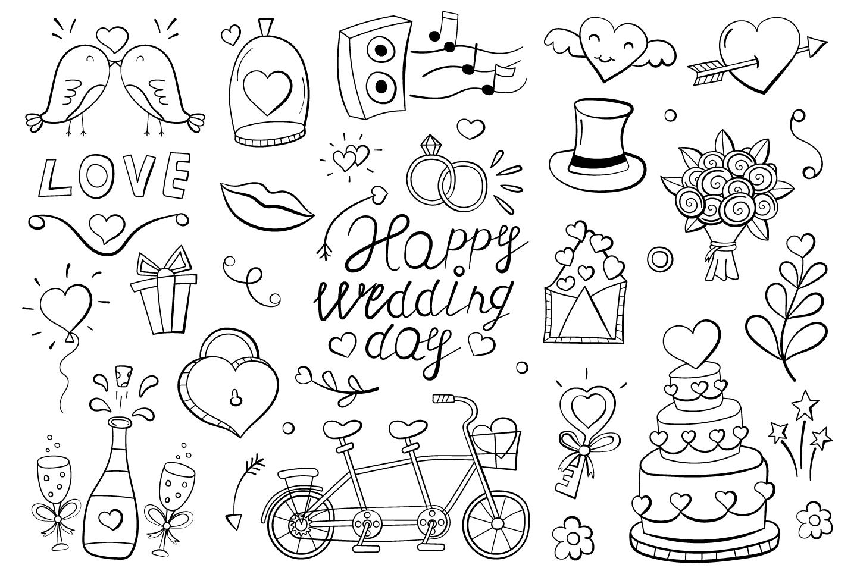Doodle Wedding Theme for Design