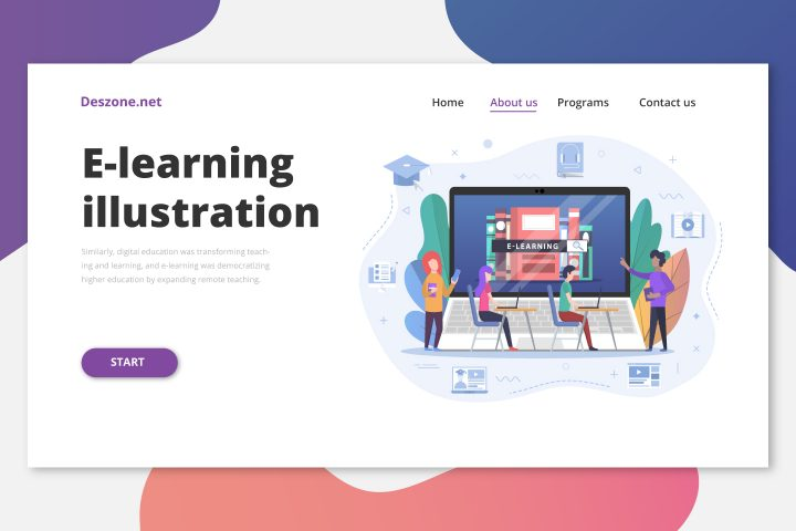 E-learning Vector Illustration