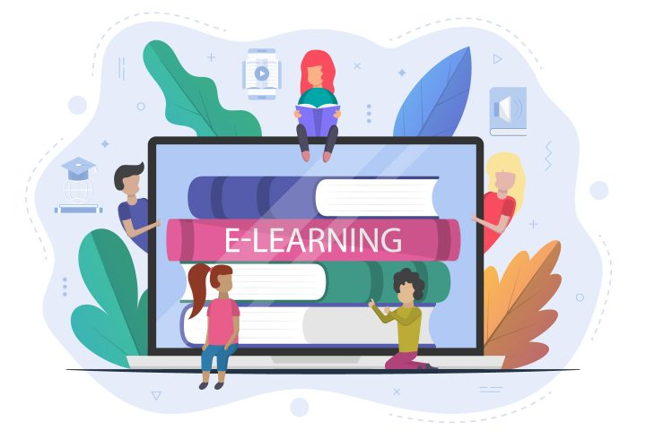 E-learning Kids Concept Illustration Flat Design