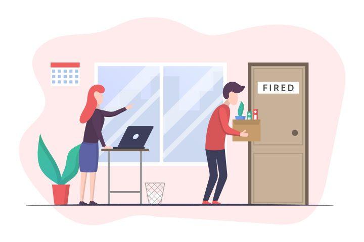 Employee Dismissal Concept