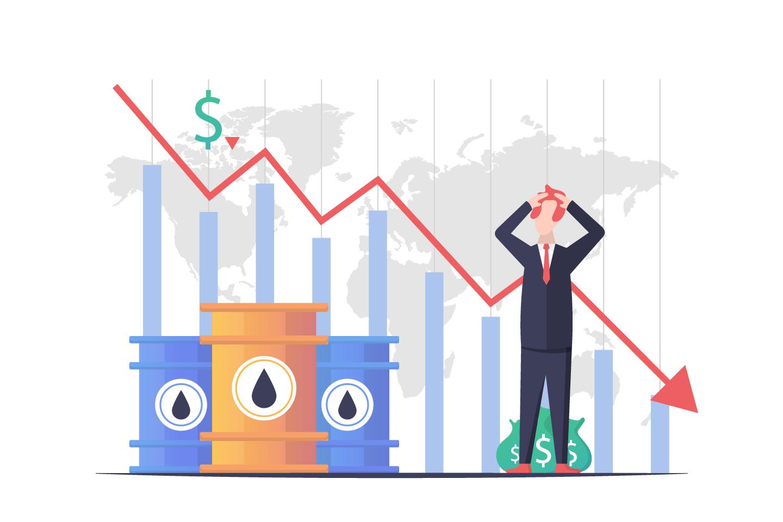 Falling Oil Prices Vector Design