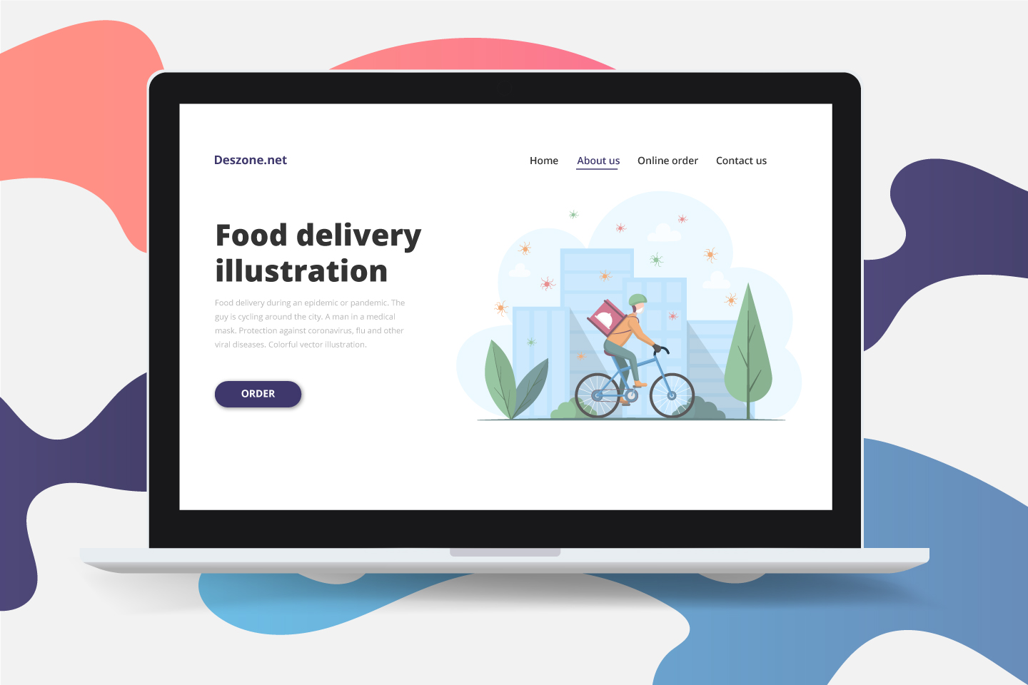 Food Delivery During an Epidemic or Pandemic Illustration