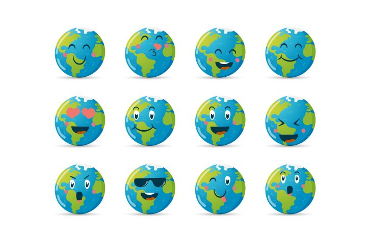 Funny Emoticons of Planet Earth