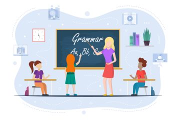 Grammar Education at School Concept