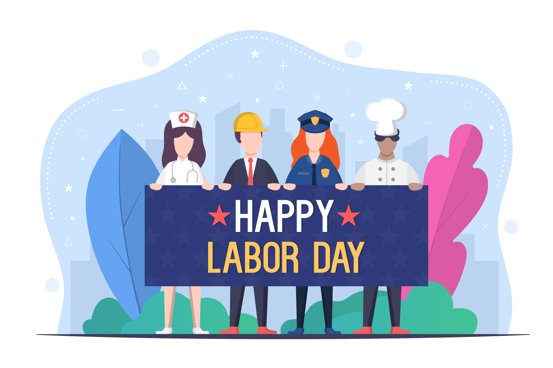 Happy Labor Day Vector Design