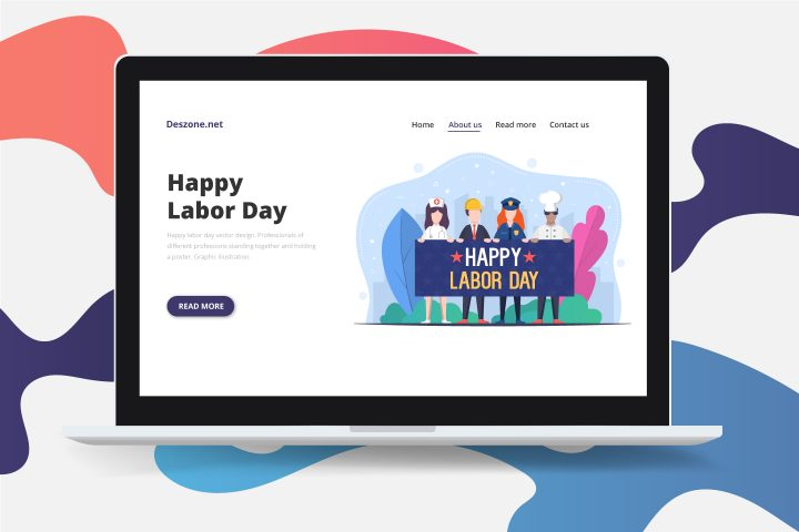 Happy Labor Day Free Vector Design