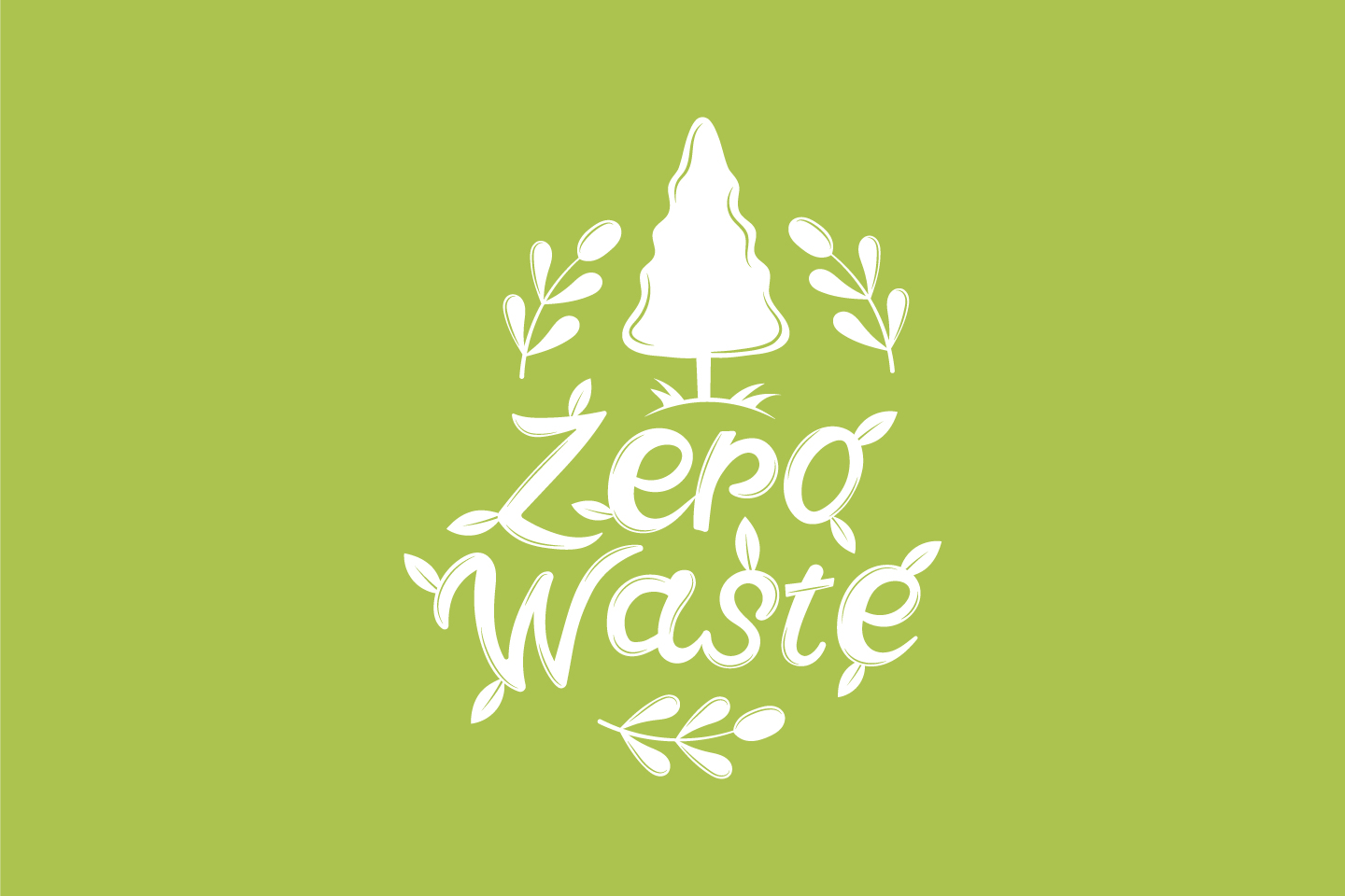Illustration Zero Waste for Websites Concept