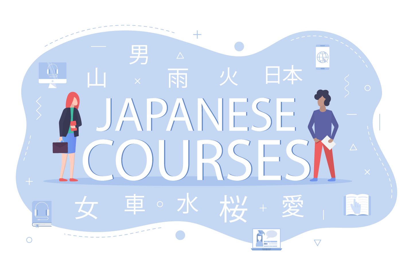 Japanese Courses Vector Design