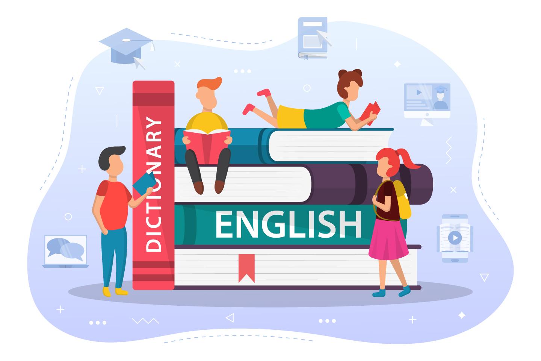 Kid English Learning Vector Design