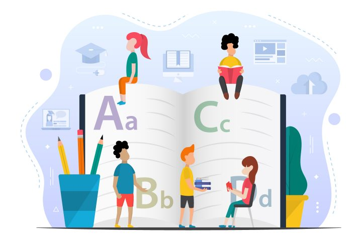 Kids Learning Alphabet Concept